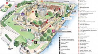 Torre de Londres - mapa
